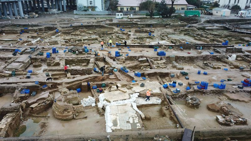 Mystery structure found during archaeological dig in Istanbul's Haydarpaşa